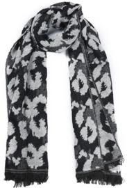 Sjaal Leopard Print - Zwart