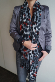 Sjaal Soft Animal Print - Rood