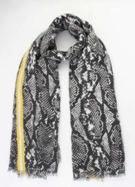 Sjaal Snake - Zwart