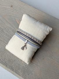 Armband - Lichtblauw / Wit