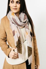 Sjaal Glamour Leopard - Kaki