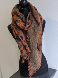 Sjaal Winter Leopard - Oranje