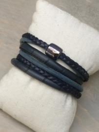 Wikkelarmband Stone - Blauw