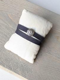 Wikkelarmband - Jeansblauw
