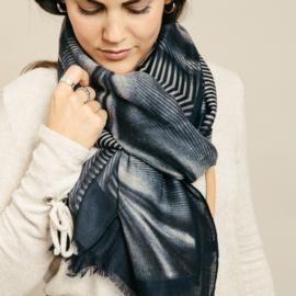 Sjaal Stripes - Blauw