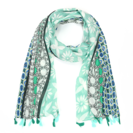 Sjaal Trendy Flowers - Groen