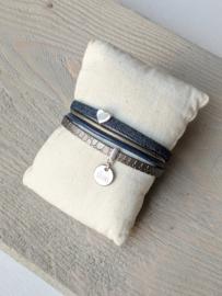 Armband Jeans Sisters - Blauw Grijs