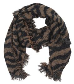 Sjaal Winter Zebra - Bruin