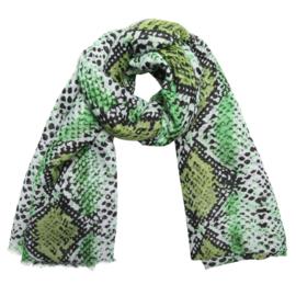 Sjaal Love My Snake - Groen