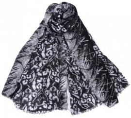 Sjaal Luipaardprint - Zwart