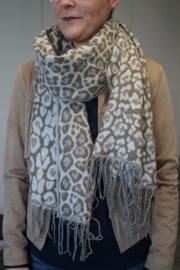 Sjaal Leopard - Bruin