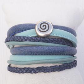 Wikkelarmband Mint - Blauw
