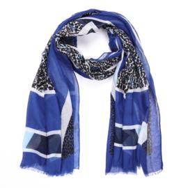 Sjaal Glamour Leopard - Blauw