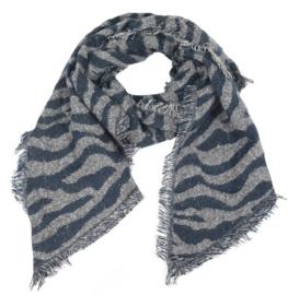 Sjaal Winter Zebra - Blauw