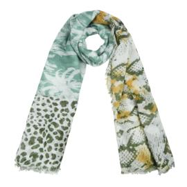 Sjaal Into the Jungle - Geel