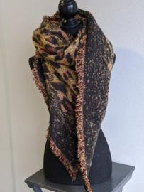 Sjaal Winter Leopard - Bruin