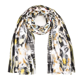 Sjaal Silk Flower - Taupe