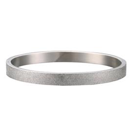 RVS Bangle Glitter - Zilver