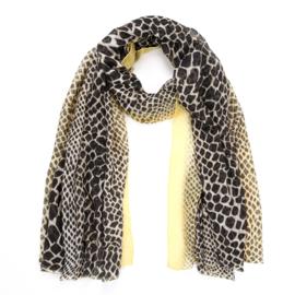 Sjaal Color Leopard - Geel