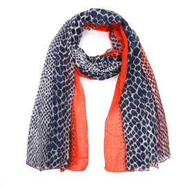 Sjaal Color Leopard - Oranje