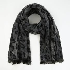 Sjaal Comfy Leopard - Grijs