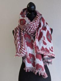 Sjaal Geometric Leopard - Rood