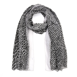 Sjaal Color Leopard - Grijs