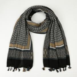 Sjaal Tassel - Zwart