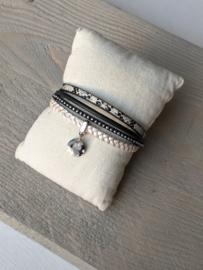 Armband Snake - Zwart Wit
