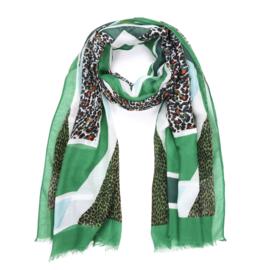 Sjaal Glamour Leopard - Groen