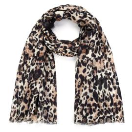 Sjaal Stripe Leopard - Taupe