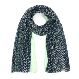 Sjaal Color Leopard - Groen