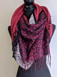 Sjaal Wildlife - Rood
