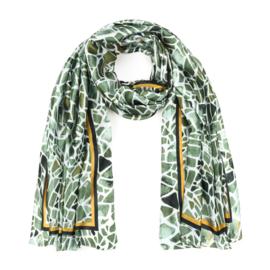 Sjaal Geometric Silk - Groen