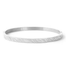 RVS Bangle Zebra - Zilver