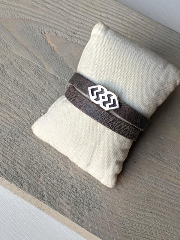 Wikkelarmband - Grijs