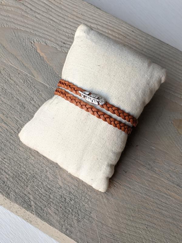 Armband Feather - Camel