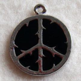 Bedel vredesteken zwart - S10339