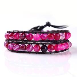 Lulu armband roze - S10977