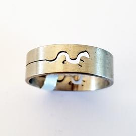 RVS ring salamander - maat 23 - S10111