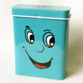 Sigarettendoosje gezicht blauw - D12724