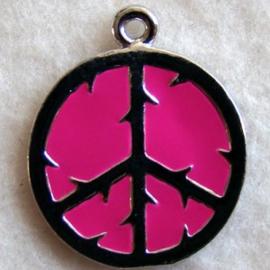 Bedel vredesteken roze - S10338