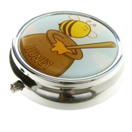 Pillendoosje bij met honingpot - D13288