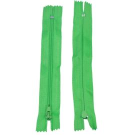 Rits 14,5 cm - groen - niet deelbaar - D12403