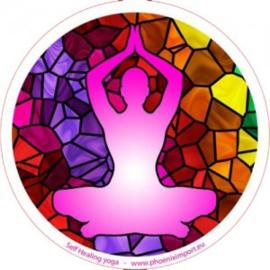 Raamsticker enkelzijdig - Self Healing Yoga - D11112