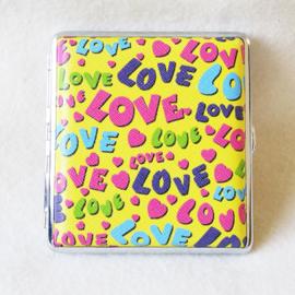 Sigarettenkoker 70's love geel - D12301