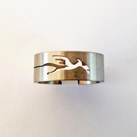 RVS ring phoenix - S10095