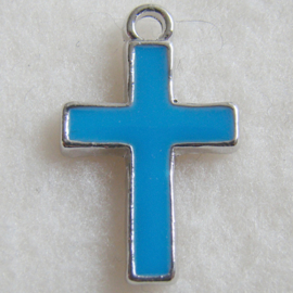 Bedel kruis, blauwe epoxy - S10472