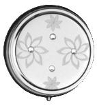 Zakasbakje rond metaal met strass en bloemetjes - D14127