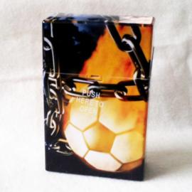 Sigarettendoosje voetbal/ketting - D12199